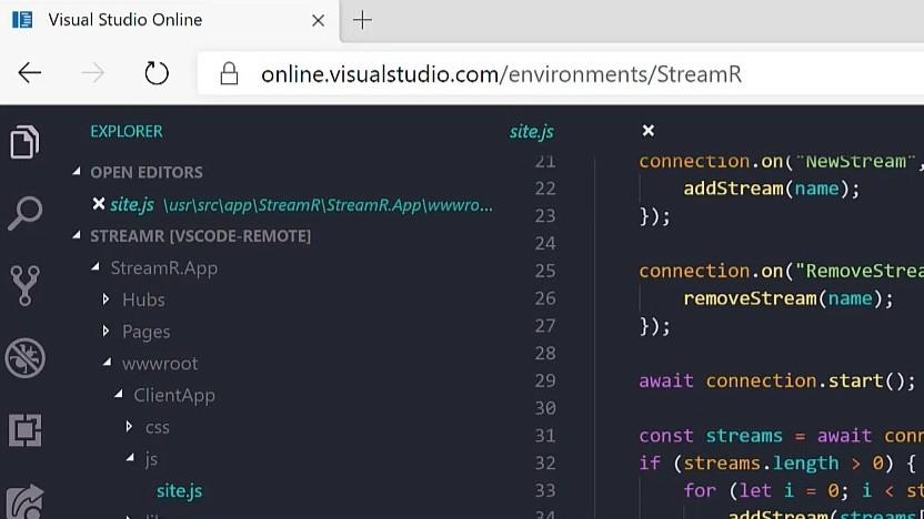 Visual Studio Online ist eine Webversion der IDE.