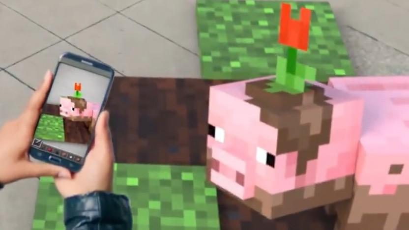Minecraft AR projiziert das Spiel in die echte Welt.