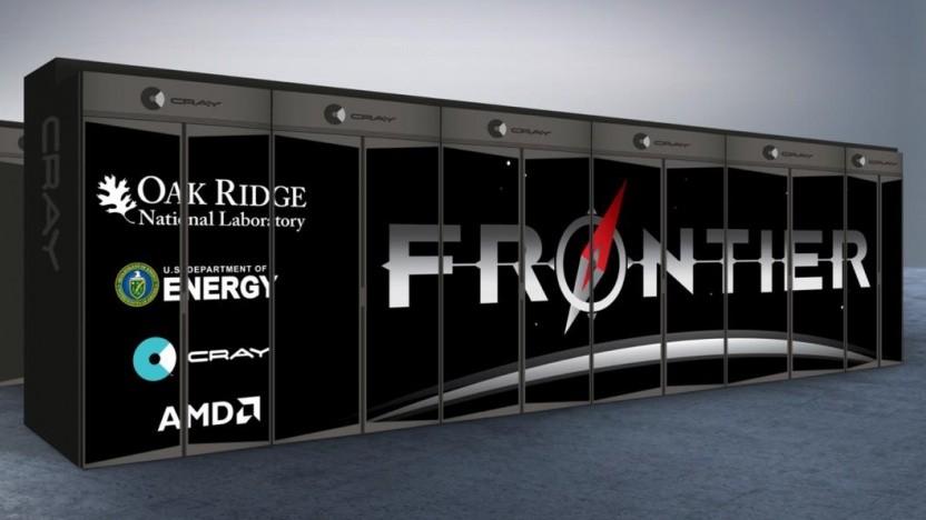 Rendering des Frontier-Supercomputers