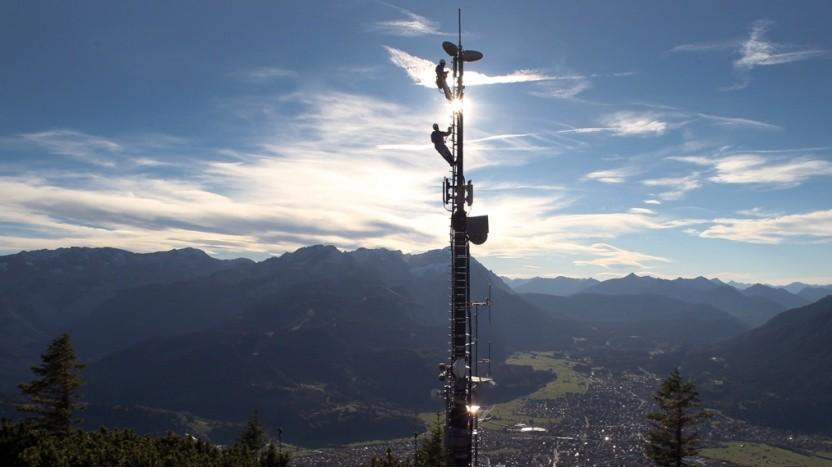 Nicht immer einfach: Ausbau der Deutsche Funkturm
