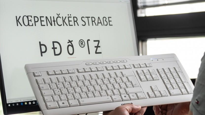 Eine Tastatur mit vielen besonderen Zeichen