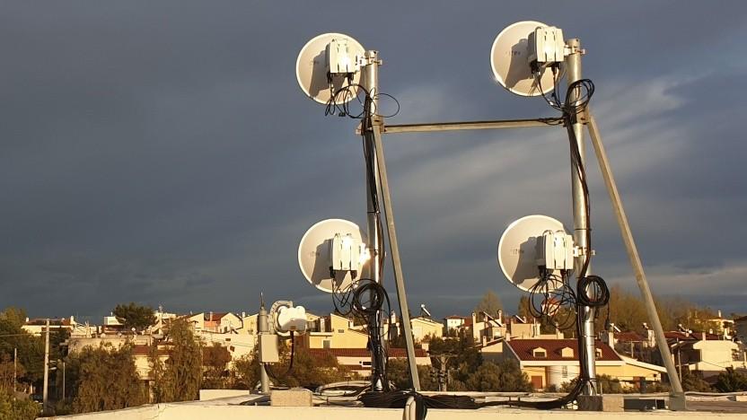Der Aufbau für 5G über Richtfunk