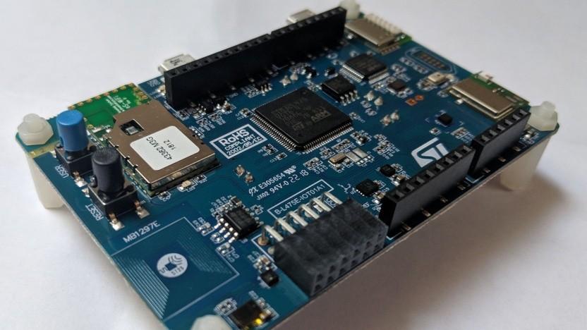 Auf solch einem Entwicklerboard mit ARM Cortex M4 soll Tiny-Curl künftig auch laufen können.