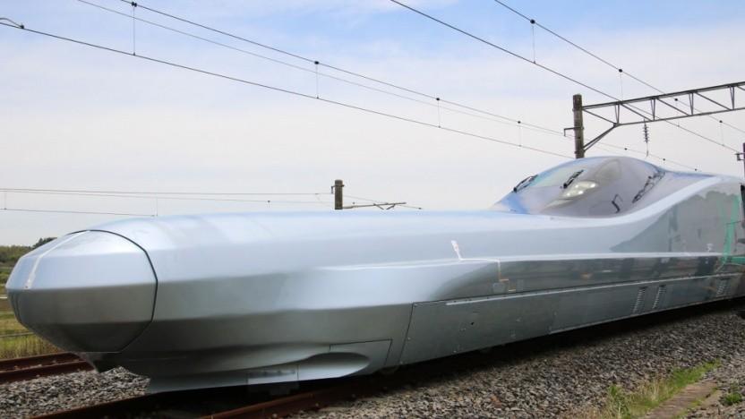 Japans E956 geht auf Testfahrt.