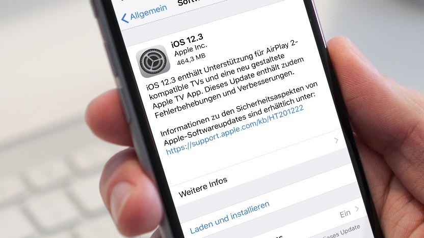iOS 12.3 ist da.