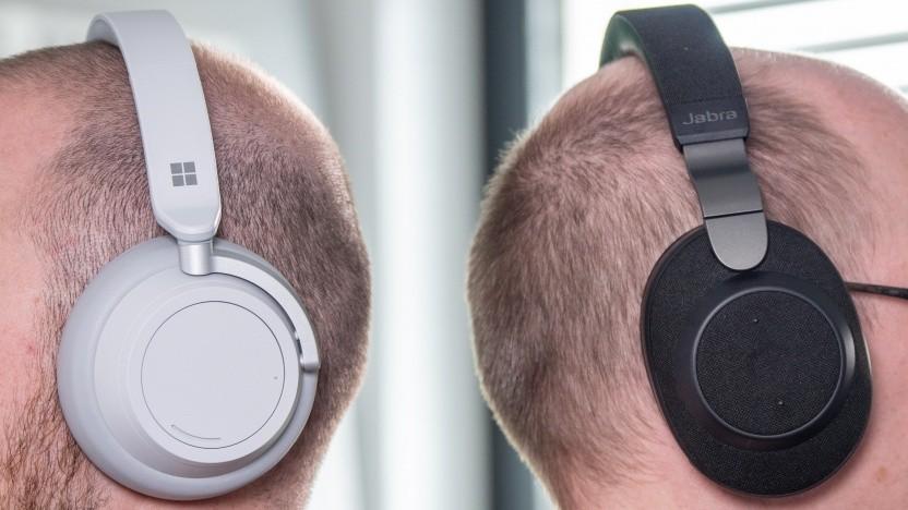 Microsofts Surface Headphones und Jabras Elite 85h im Vergleich