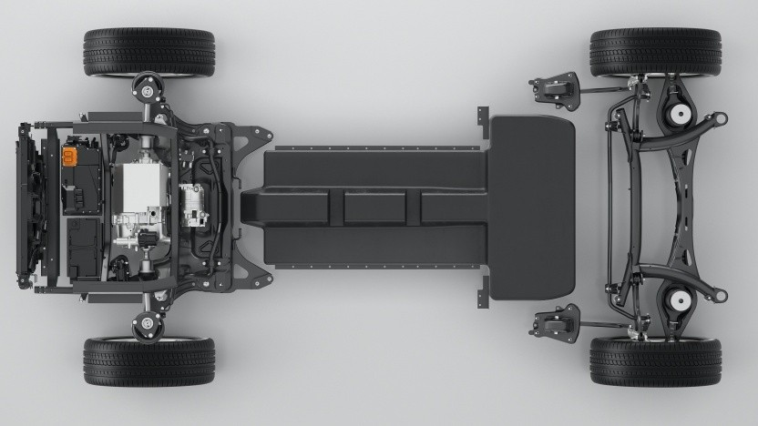 Konzeptstudie für ein Elektrofahrzeug auf der kompakten Modular-Architektur (CMA)