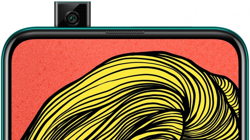 Das neue P Smart Z von Huawei mit ausgefahrener Frontkamera