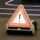 Mercedes-Sicherheitsstudie: Wenn das Warndreieck autonom aus dem Auto fährt