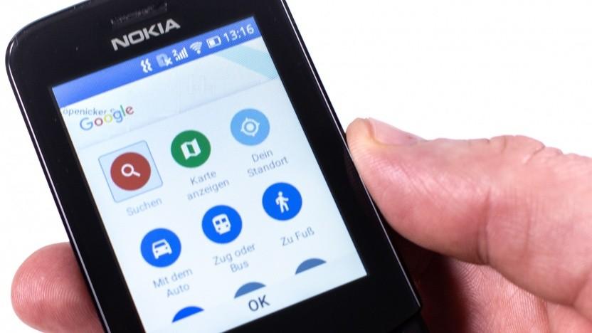 Google Maps unter KaiOS auf einem Nokia 8110 4G