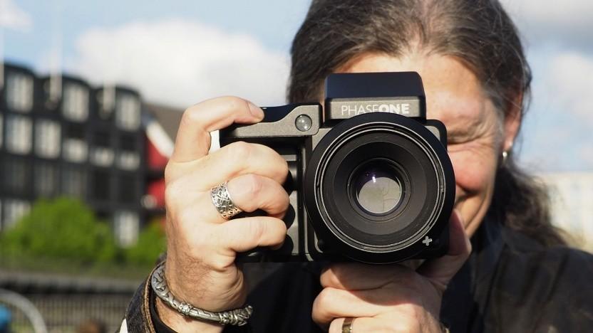 Mittelformatkamera Phase One IQ4: Wer regelmäßig Sport treibt, kann besser mit der Kamera umgehen.