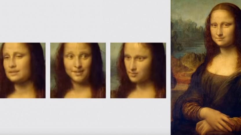 Die Mona Lisa kann durch Software sprechen.