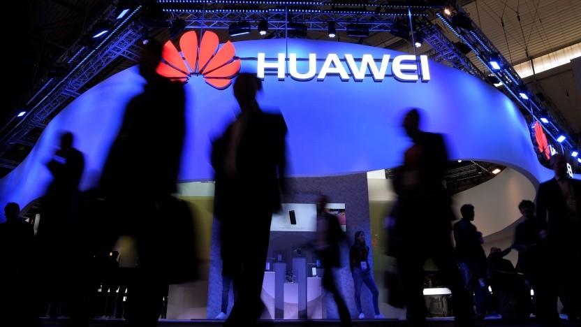 Messestand von Huawei auf dem Mobile World Congress 2017