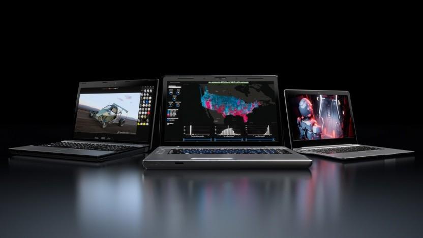 Mehrere Studio Laptops mit Quadro RTX
