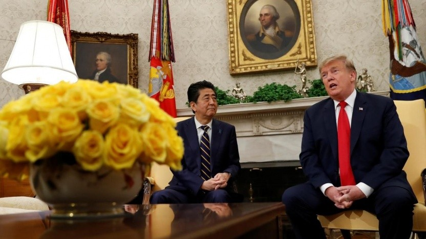 Trump traf Japans Premierminister Shinzo Abe
