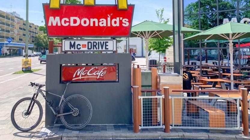 Essen holen per Fahrrad ist jetzt etwas einfacher geworden.
