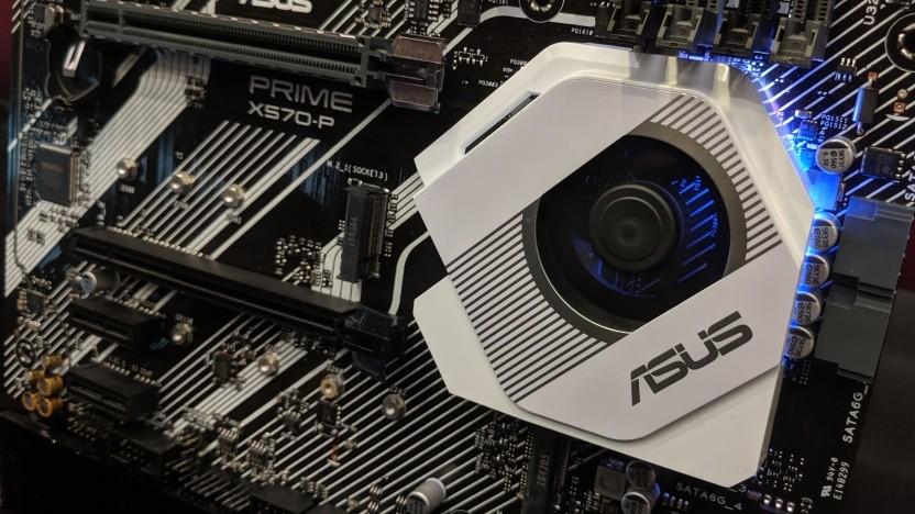 Unter diesem Kühler samt Lüfter sitzt der X570-Chip