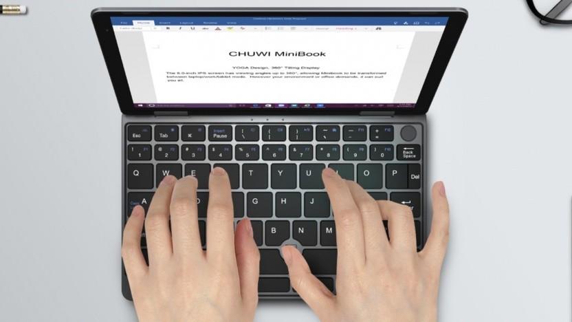 Das Minibook hat kein Touchpad, dafür etwas größere Tasten.