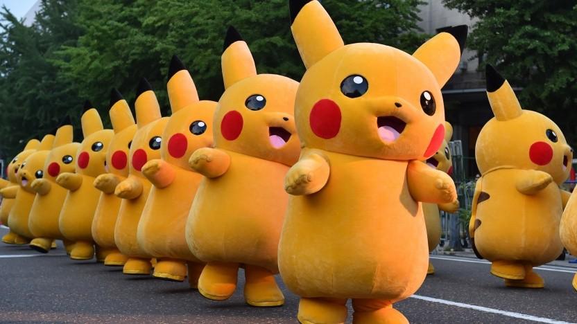 Pikachu auf einer Veranstaltung in Japan