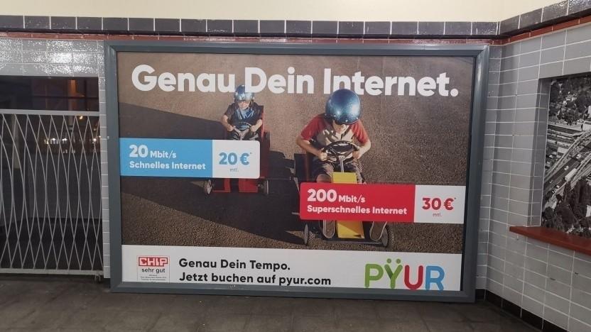Werbung von Pyur im Land Brandenburg