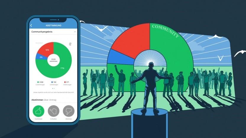 Die App Democracy will den Wählern zu mehr Mitbestimmung verhelfen.