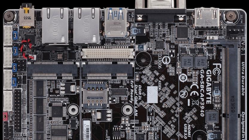 Das neue Gigabyte-Board ist recht kompakt gehalten.