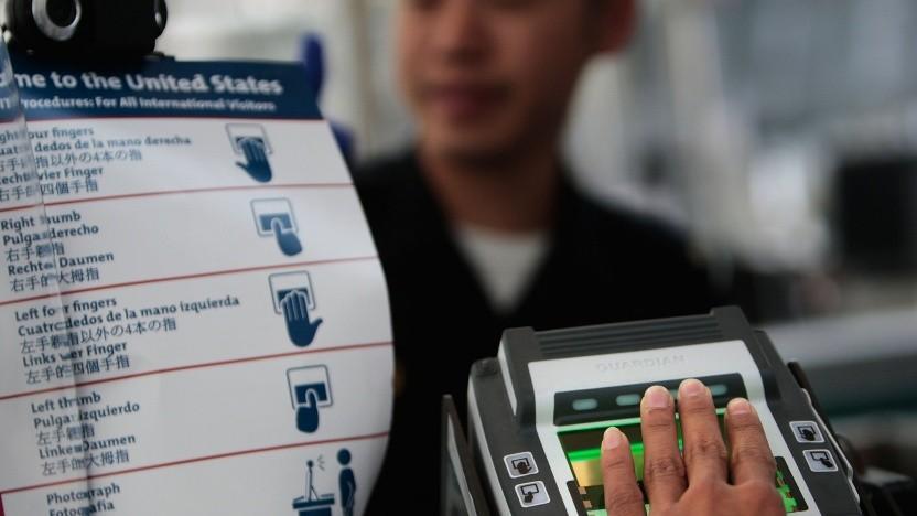 Bei der Einreise in die USA werden Fingerabdrücke erfasst.