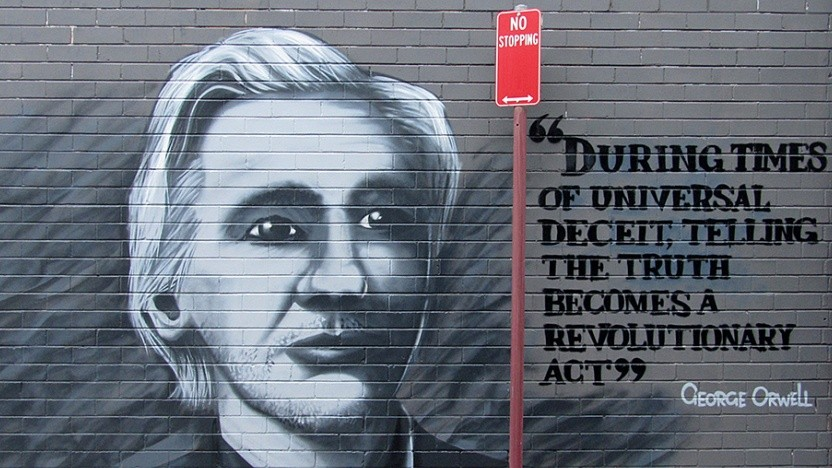 Das Graffito zeigt den Wikileaks-Gründer Julian Assange.