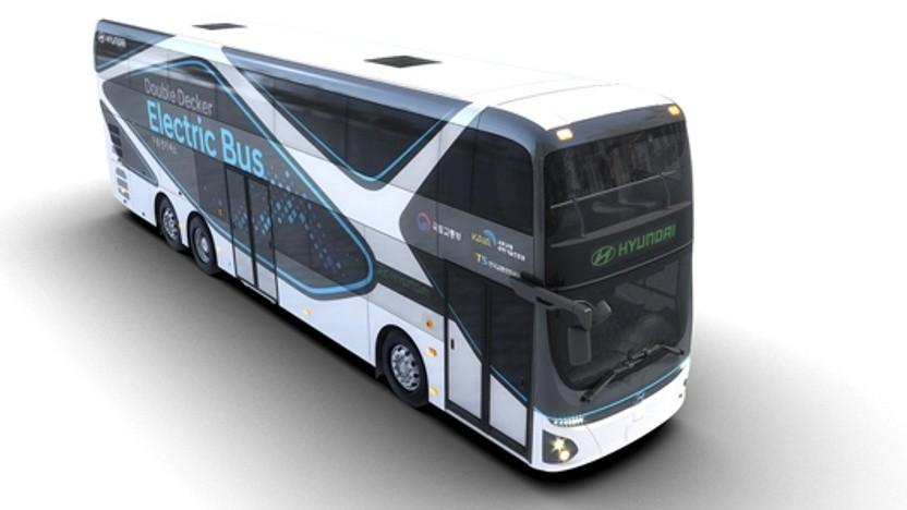 Der elektrische Doppeldeckerbus von Hyundai
