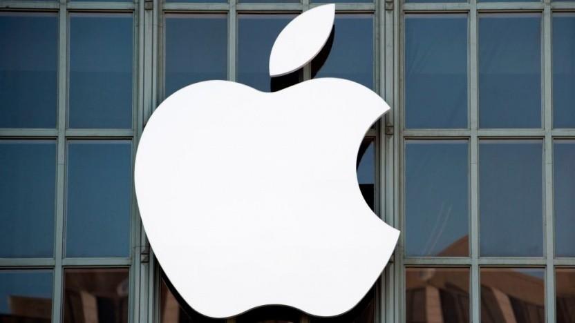 Apple-Logo an einem Apple Store