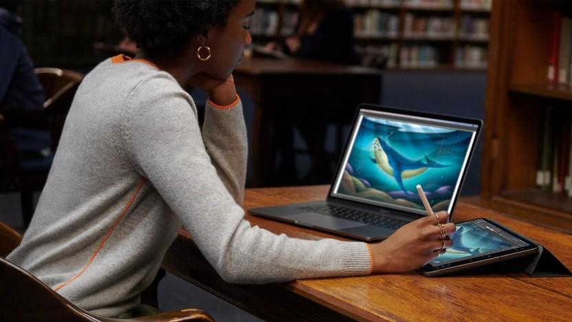 Catalinas Sidecar ermöglicht die Nutzung des iPads als Ein- und Ausgabegerät.