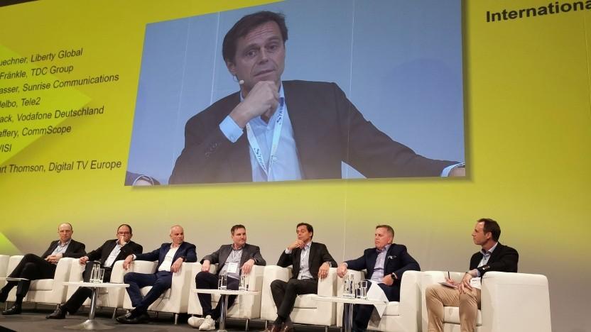 Gerhard Mack (Vodafone) auf dem CTO-Summit der Anga Com in Köln