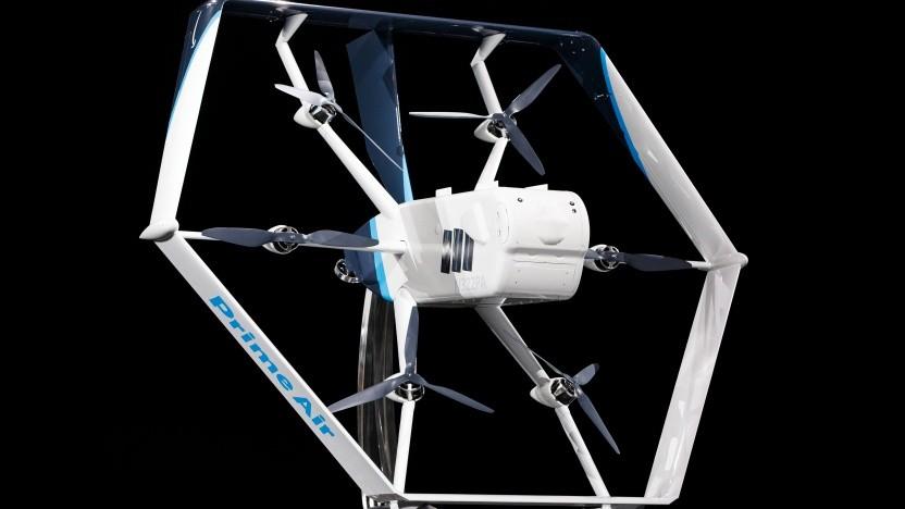 Amazons autonome Drohne ist ein fliegendes Hexagon.