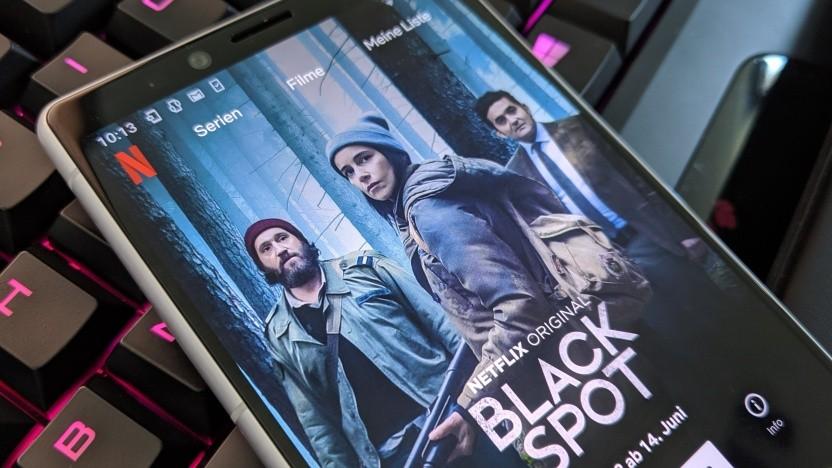 Die Netflix-App auf einem Android-Smartphone
