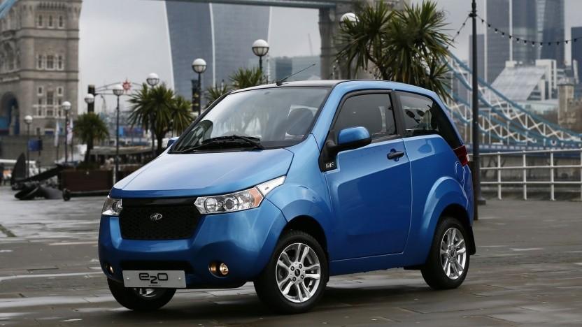 Elektroauto vom indischen Hersteller Mahindra (Symbolbild): 0,3 Prozent der verkauften Autos sind elektrisch.