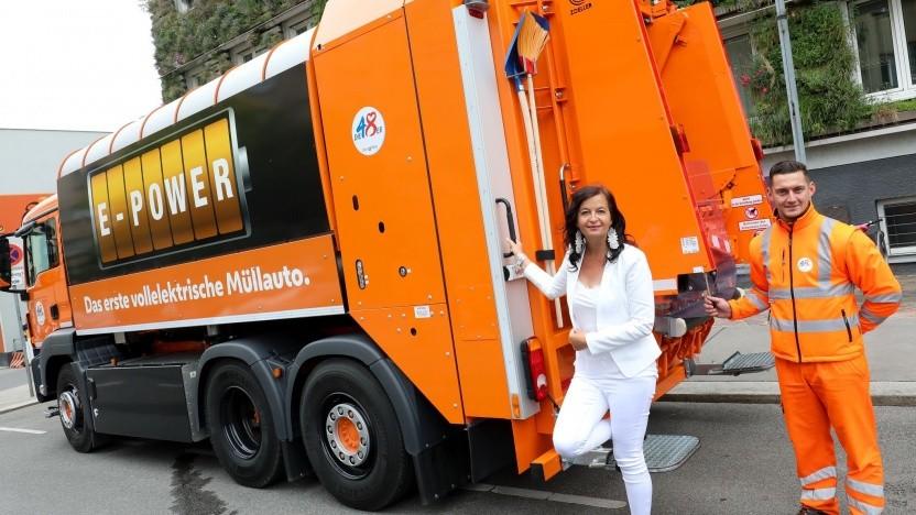 Elektrisches Müllfahrzeug in Wien: etwa doppelt so teuer wie ein herkömmliches Fahrzeug