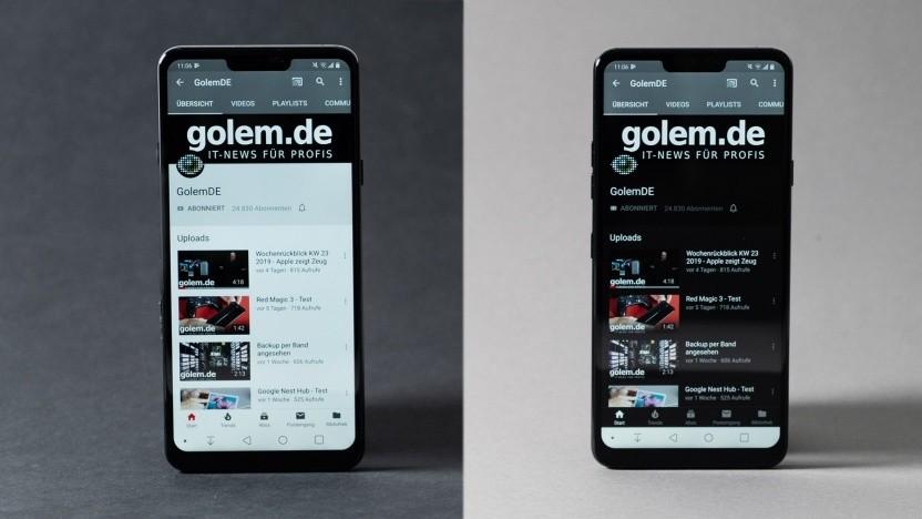 Nicht nur Apple setzt auf den Dark Mode - auch die Youtube-App unter Android unterstützt eine dunkle Darstellung
