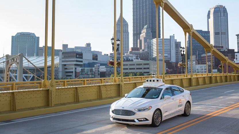 Selbstfahrender Testwagen von Argo AI