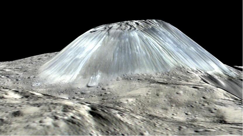 """""""Eine der merkwürdigsten Strukturen im gesamten Sonnensystem"""": Ahuna Mons auf dem Zwergplaneten Ceres"""