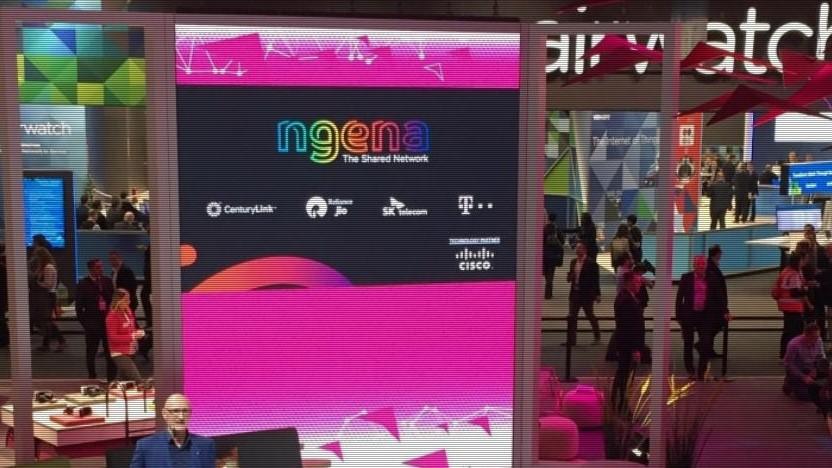 Telekom-Chef Tim Höttges stellt Weltnetz Ngena vor