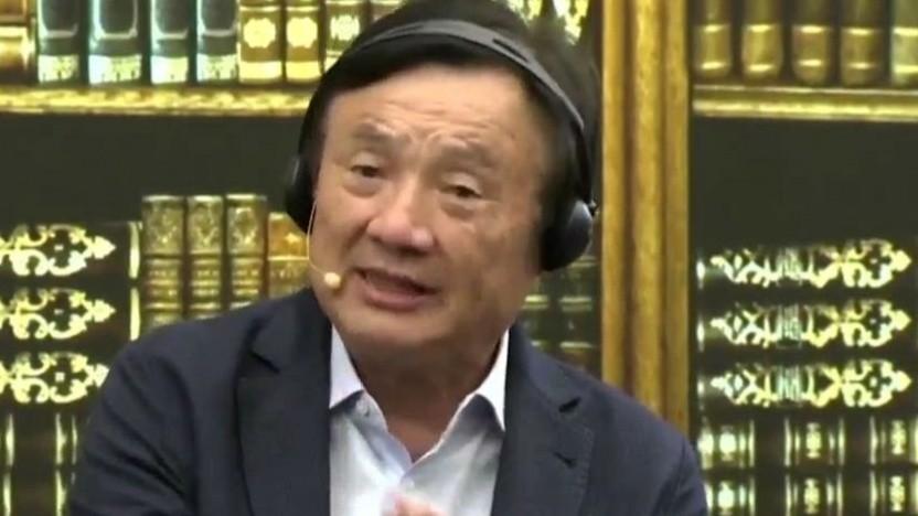 Huawei-Chef Ren Zhengfei spricht am 17. Juni 2019 zu den Medien.