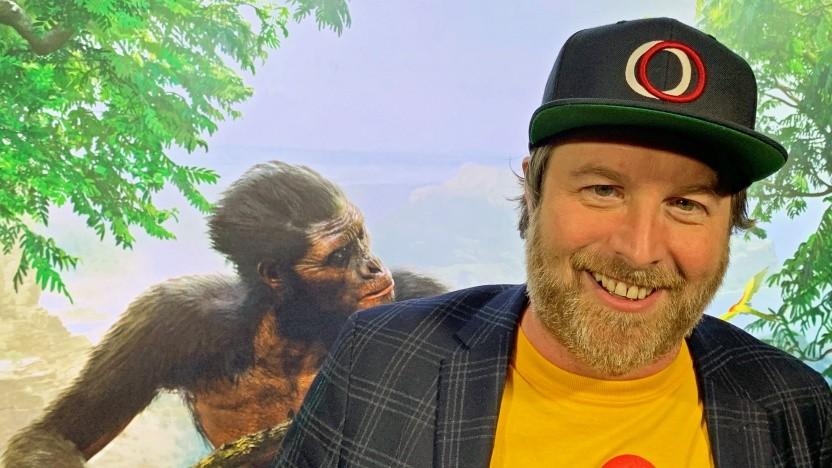 Patrice Désilets beim Interview während der E3 2019 in Los Angeles