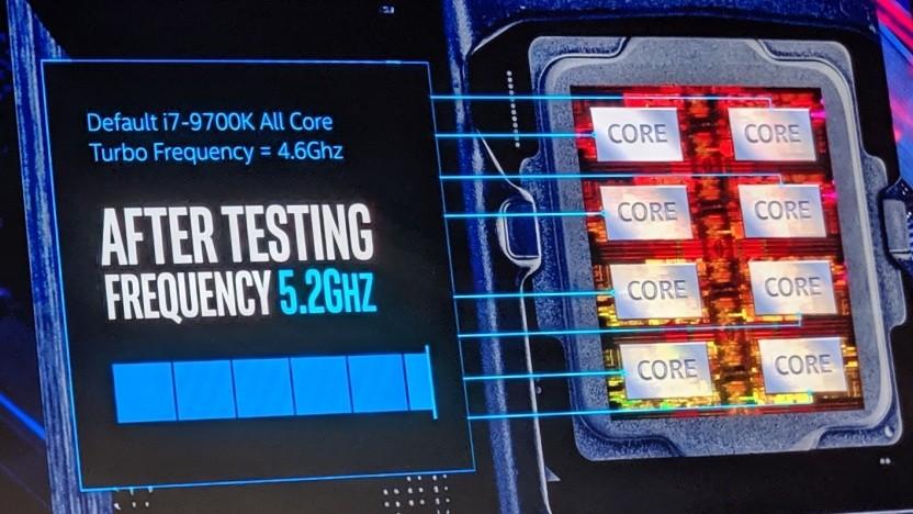 Intel zeigt den Performance Maximizer auf der Computex 2019.