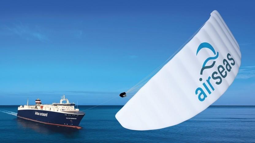 RoRo-Schiff von Airbus mit Seawing: Setzen und Einholen per Knopfdruck