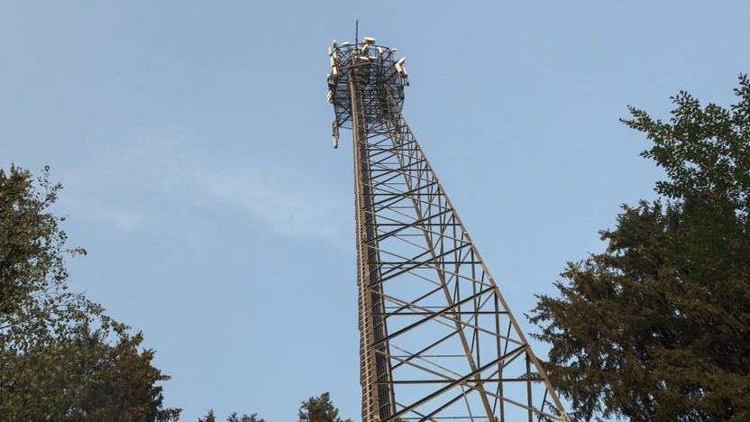 Mastbau der Deutschen Funkturm