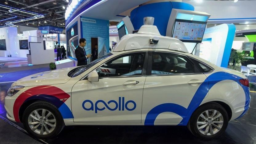 Von Baidu ausgestattetes automatisiertes Auto, noch mit Lidar: offene Plattform mit Hard- und Softwarekomponenten