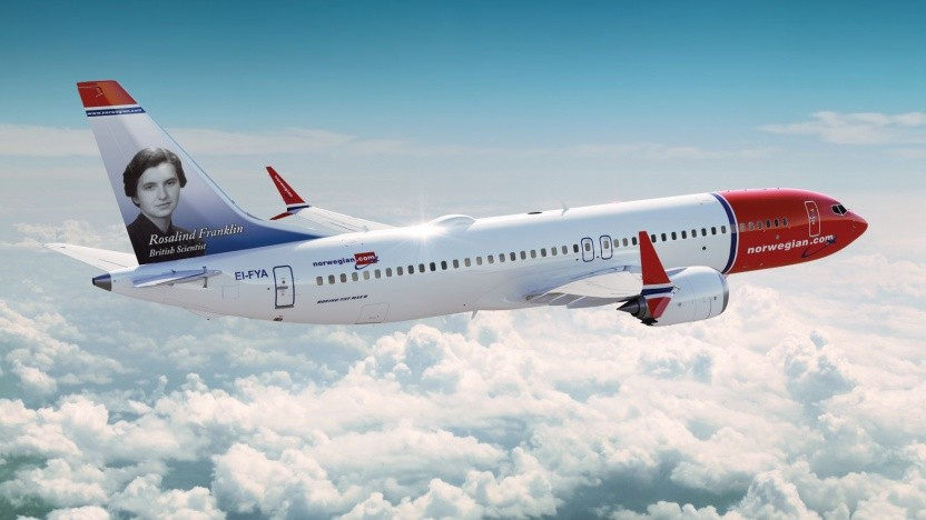 Norwegian lässt das WLAN auch bei der Landung aktiv. (Symbolbild)