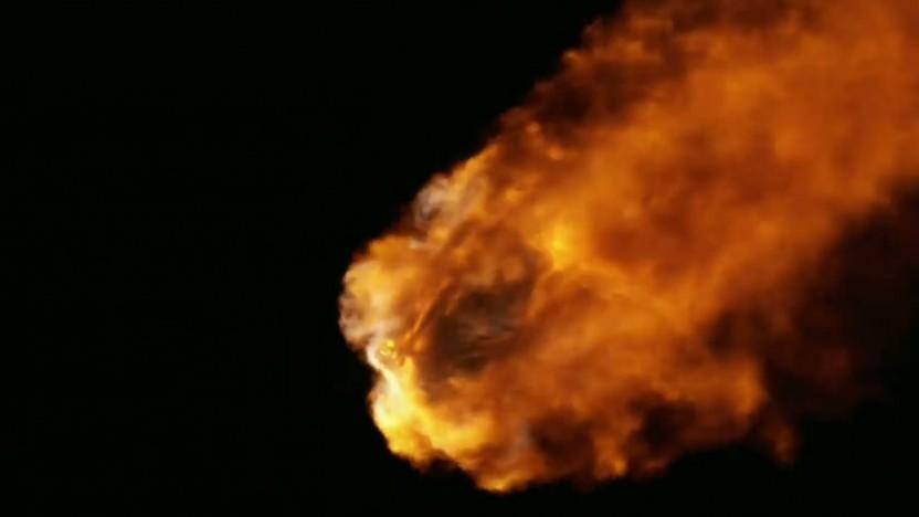 Der Nachtstart der Falcon Heavy lieferte spektakuläre Bilder.