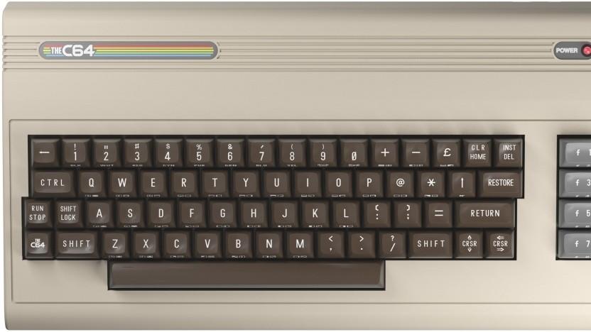 Der THEC64 ist so groß wie der ursprüngliche C64.