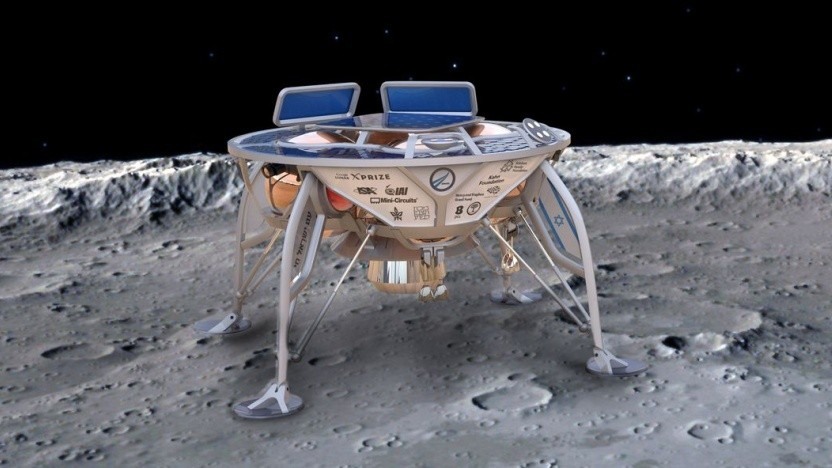 Künstlerische Darstellung des Mondlandefahrzeugs Beresheet: großer Erfolg trotz Bruchlandung